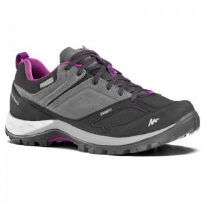 women-s-waterproof-mountain-walking-boots-mh500-grey-purple
